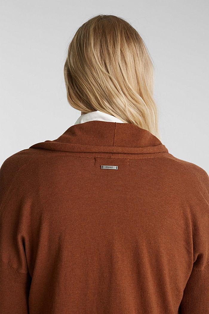 Offener Cardigan aus 100% Bio-Baumwolle, TOFFEE, detail image number 5