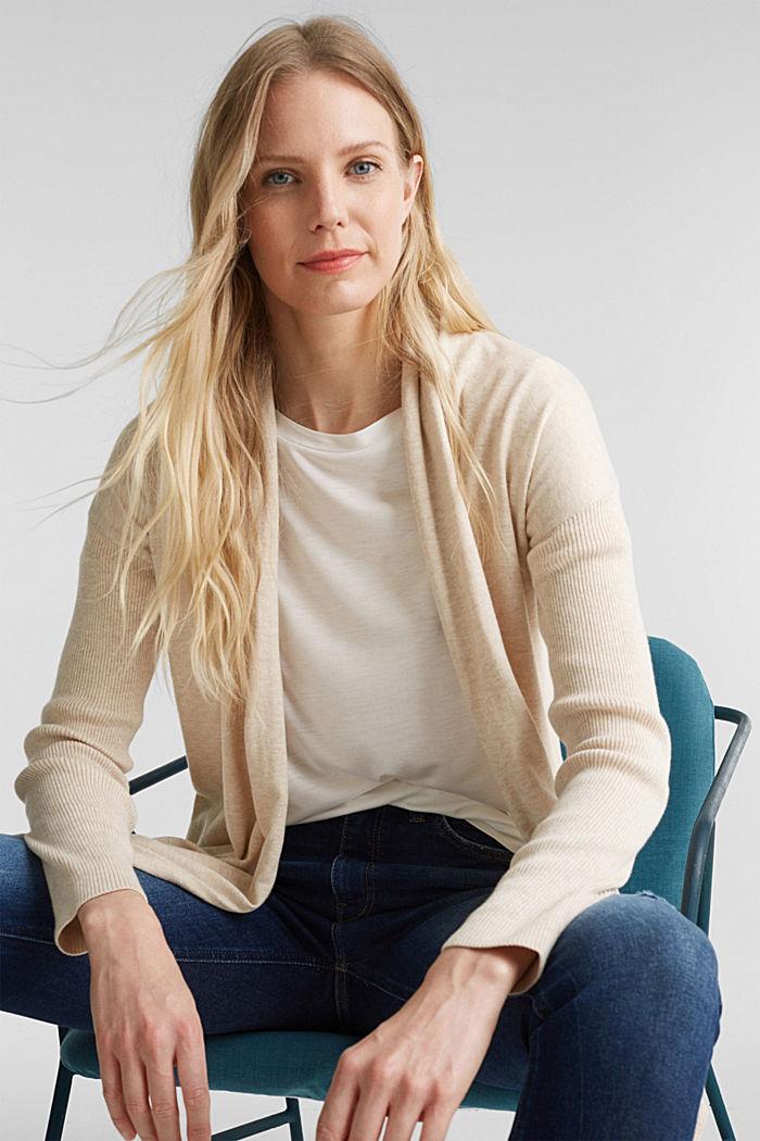 Offener Cardigan aus 100% Bio-Baumwolle