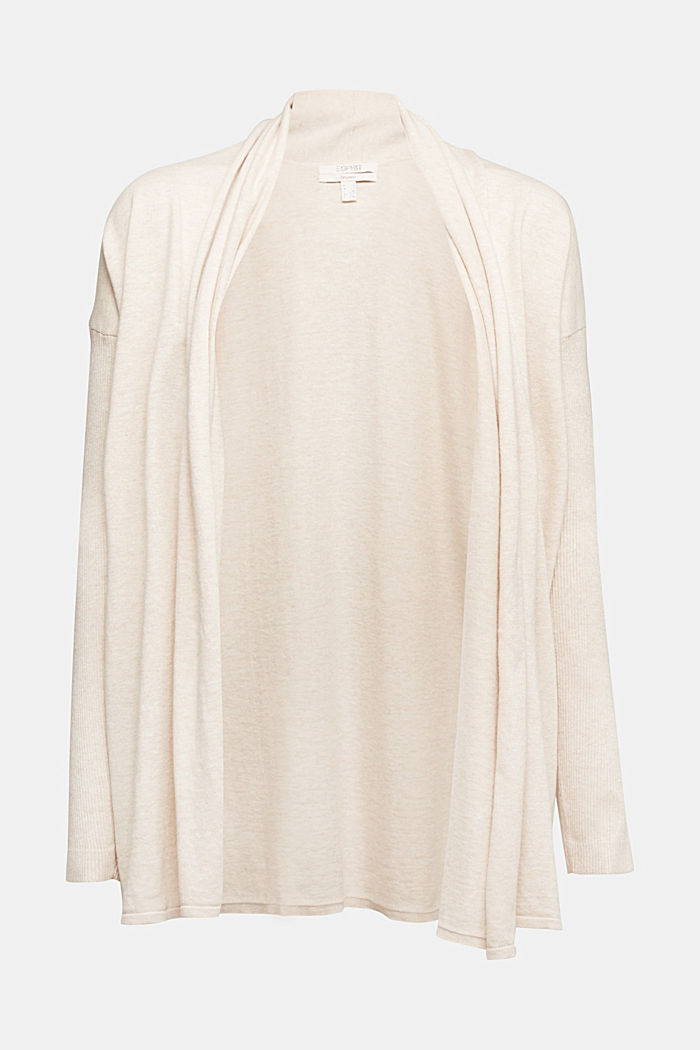 Open cardigan made of 100% organic cotton, SAND, detail image number 7