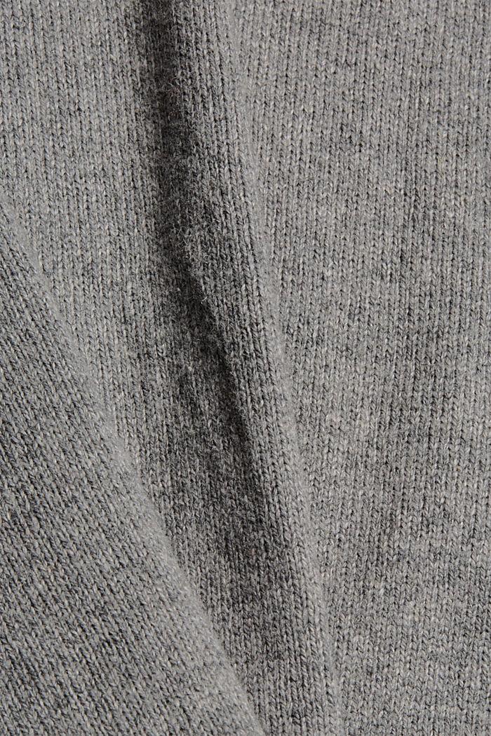 Wool blend: layered-effect jumper, GUNMETAL, detail image number 4