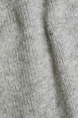 Wool blend: jumper with a frilled blouse insert, LIGHT GREY 5, detail