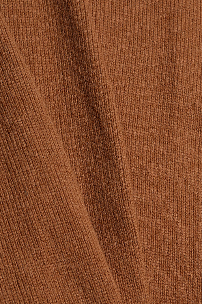Con lana: pullover con effetto a strati, TOFFEE, detail image number 4