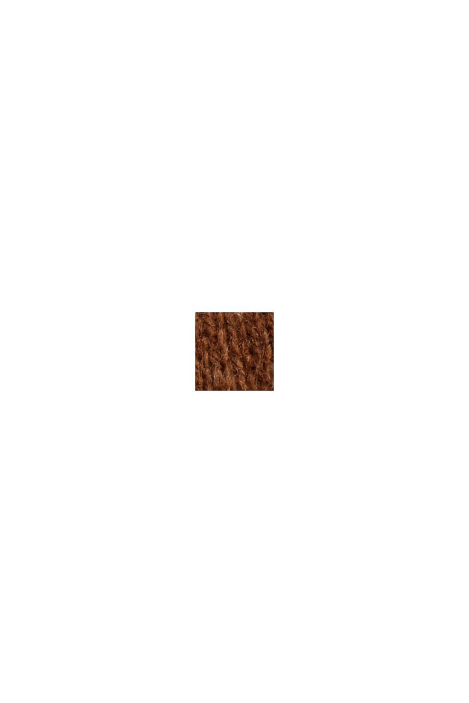 Mit Wolle: Pullover im Lagenlook, TOFFEE, swatch