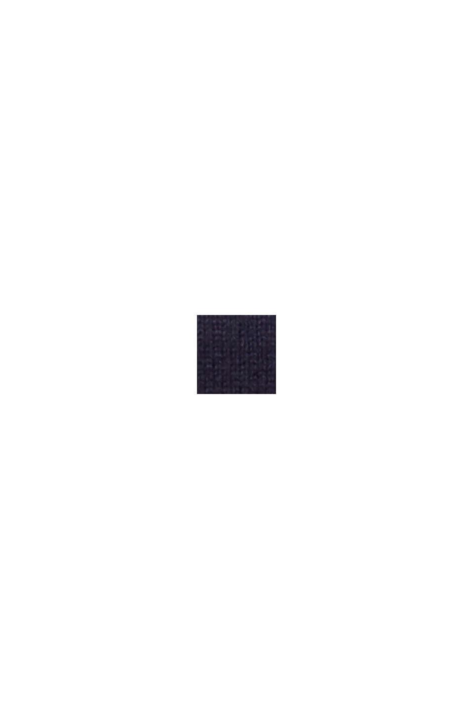 Mit Wolle: Pullover im Lagenlook, NAVY, swatch
