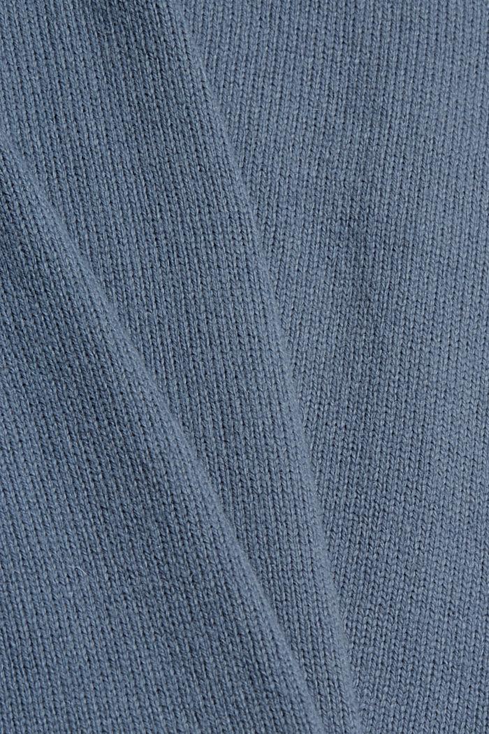 Wool blend: layered-effect jumper, GREY BLUE, detail image number 4