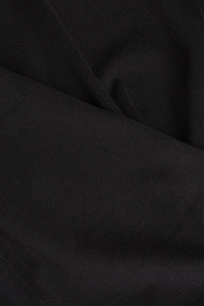 V-neck jumper containing organic cotton, BLACK, detail image number 4
