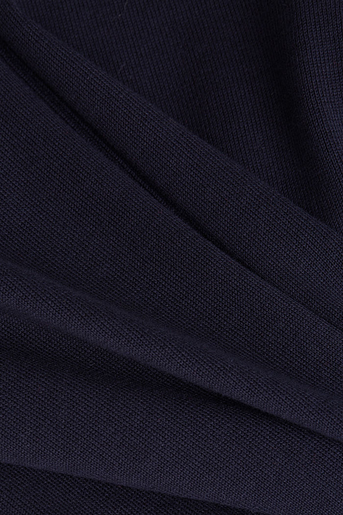 V-neck jumper containing organic cotton, NAVY, detail image number 4
