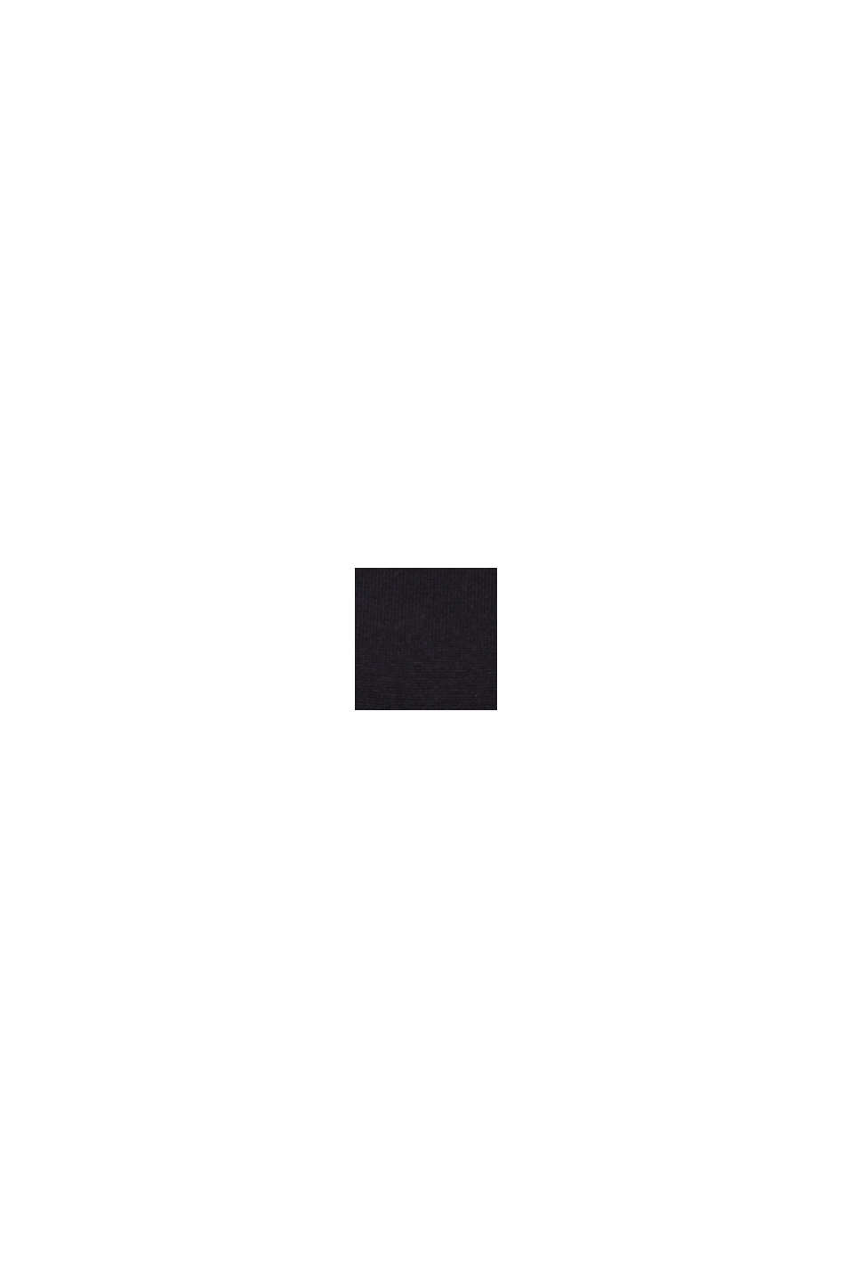 Rullekravebluse i økologisk bomuldsblanding, BLACK, swatch