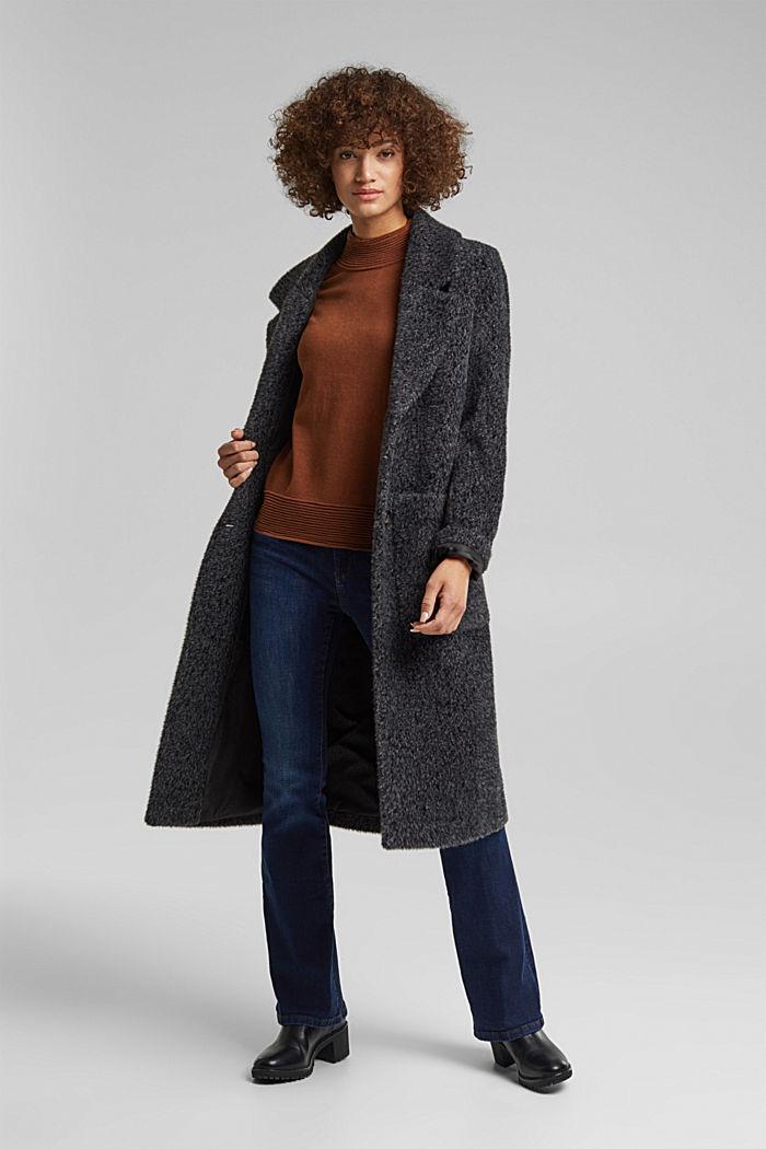 Sweter z półgolfem z mieszanki z bawełną ekologiczną, TOFFEE, detail image number 1