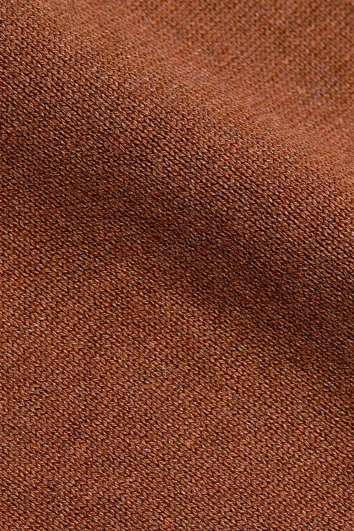 Sweter z półgolfem z mieszanki z bawełną ekologiczną, TOFFEE, detail image number 4