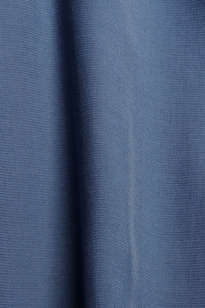 Pull-over à col cheminée en coton biologique mélangé, GREY BLUE, detail image number 4