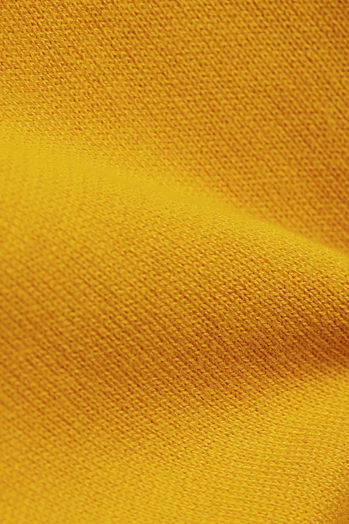 Turtleneck jumper made of organic blended cotton, BRASS YELLOW, detail image number 4