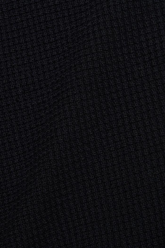 Textured batwing cardigan, BLACK, detail image number 4