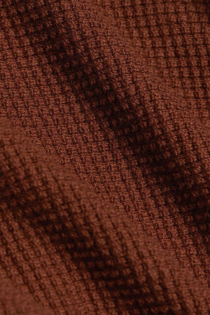 Fashion Cardigan, BROWN, detail image number 4