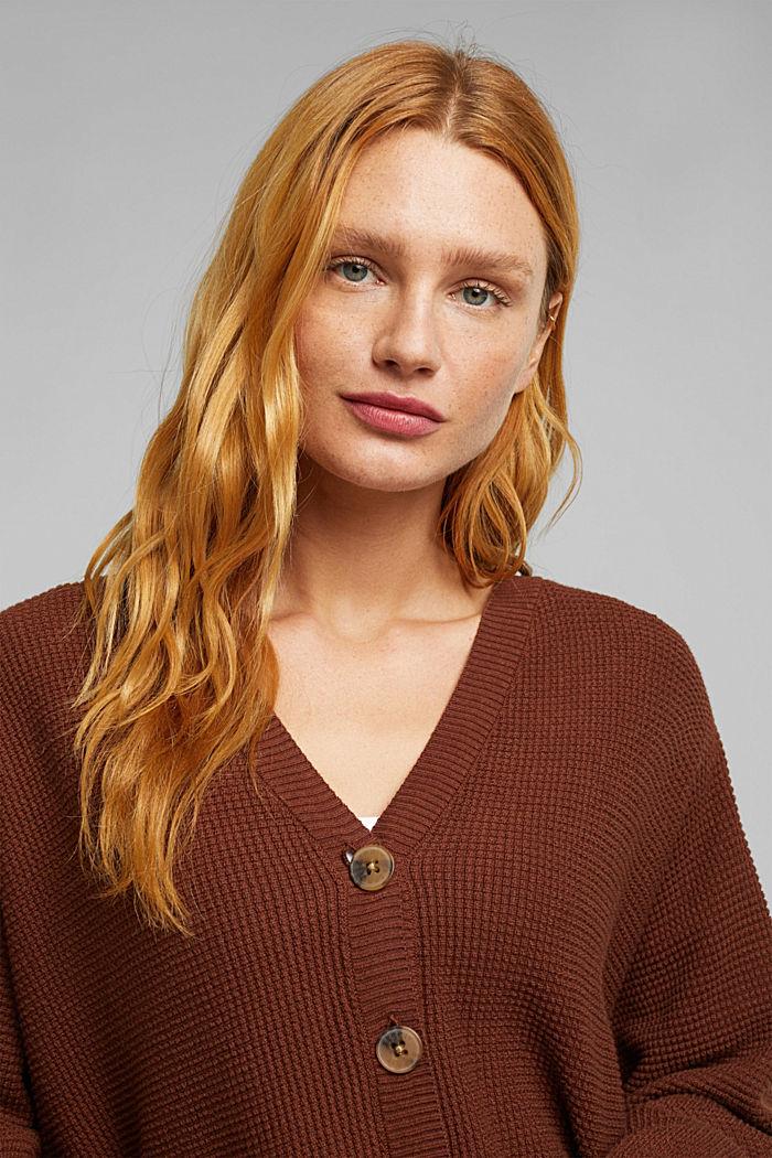 Fashion Cardigan, BROWN, detail image number 5