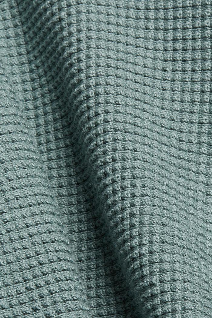 Kardigan typu nietoperz z fakturą, DUSTY GREEN, detail image number 4