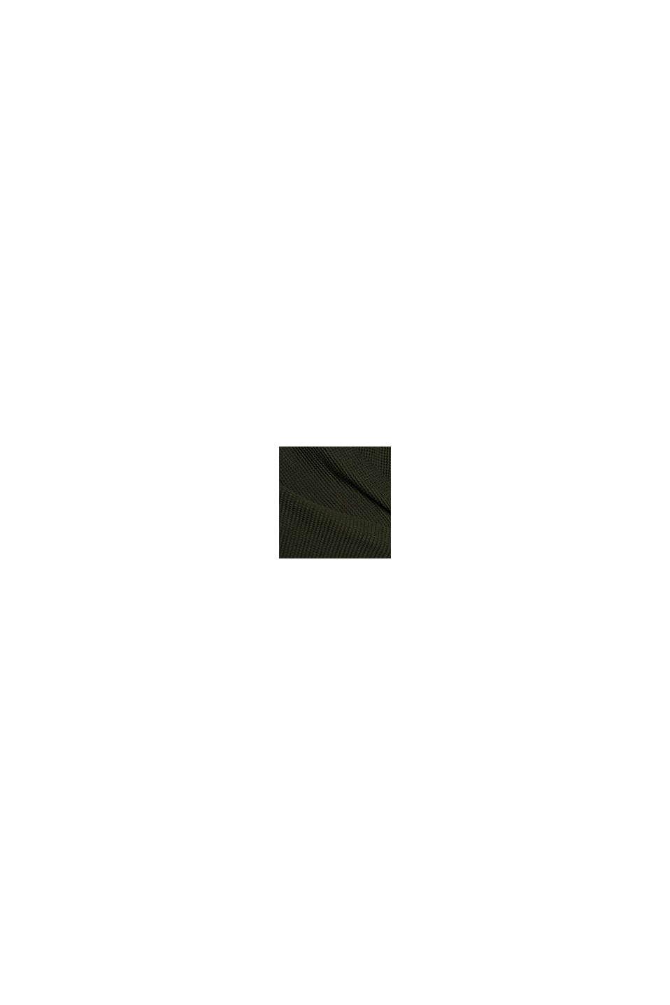 Cardigan med flagermusærmer og struktur, KHAKI GREEN, swatch