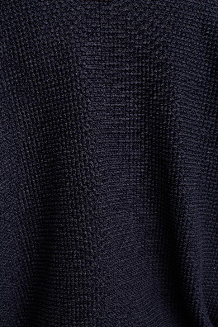 Vest in vleermuisstijl met structuur, NAVY, detail image number 4