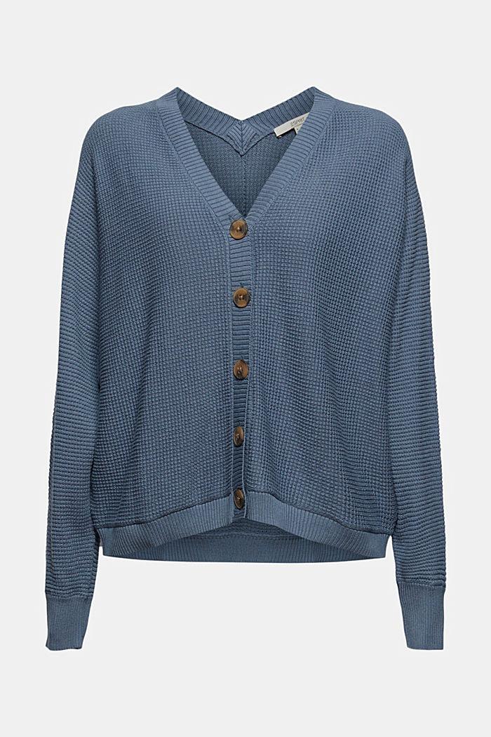 Cardigan texturé à manches chauve-souris, GREY BLUE, detail image number 8