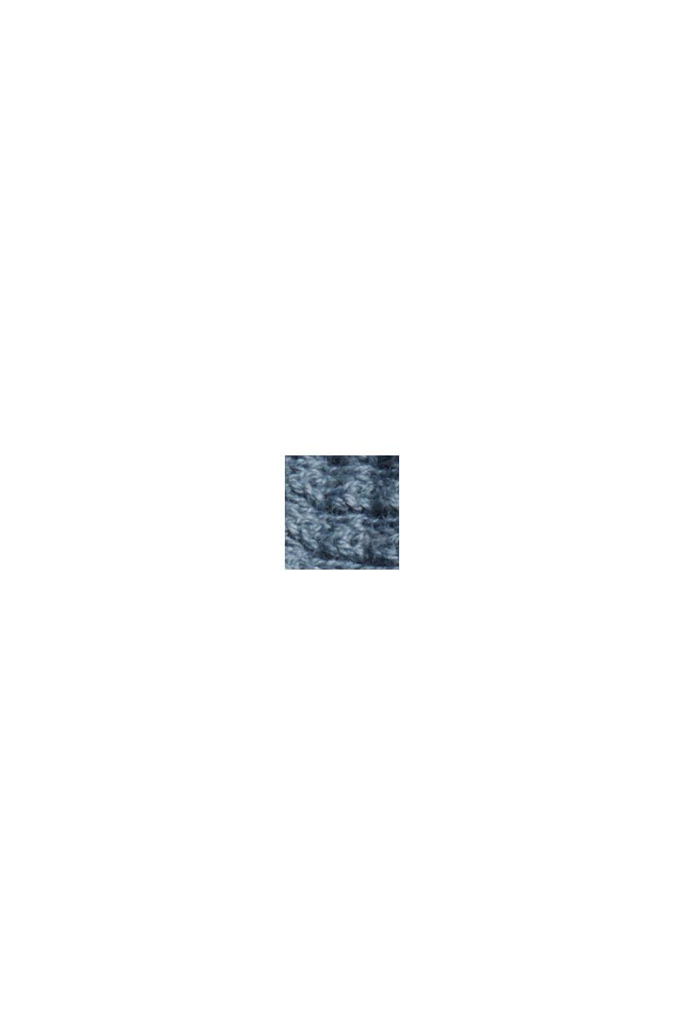 Cardigan strutturato con maniche a pipistrello, GREY BLUE, swatch