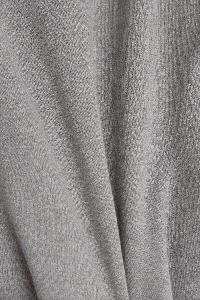 Jumper made of 100% organic cotton, GUNMETAL, detail image number 4