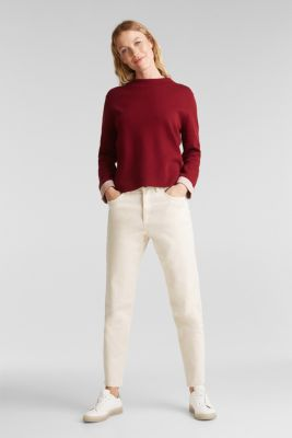 Jumper made of 100% organic cotton, BORDEAUX RED 4, detail