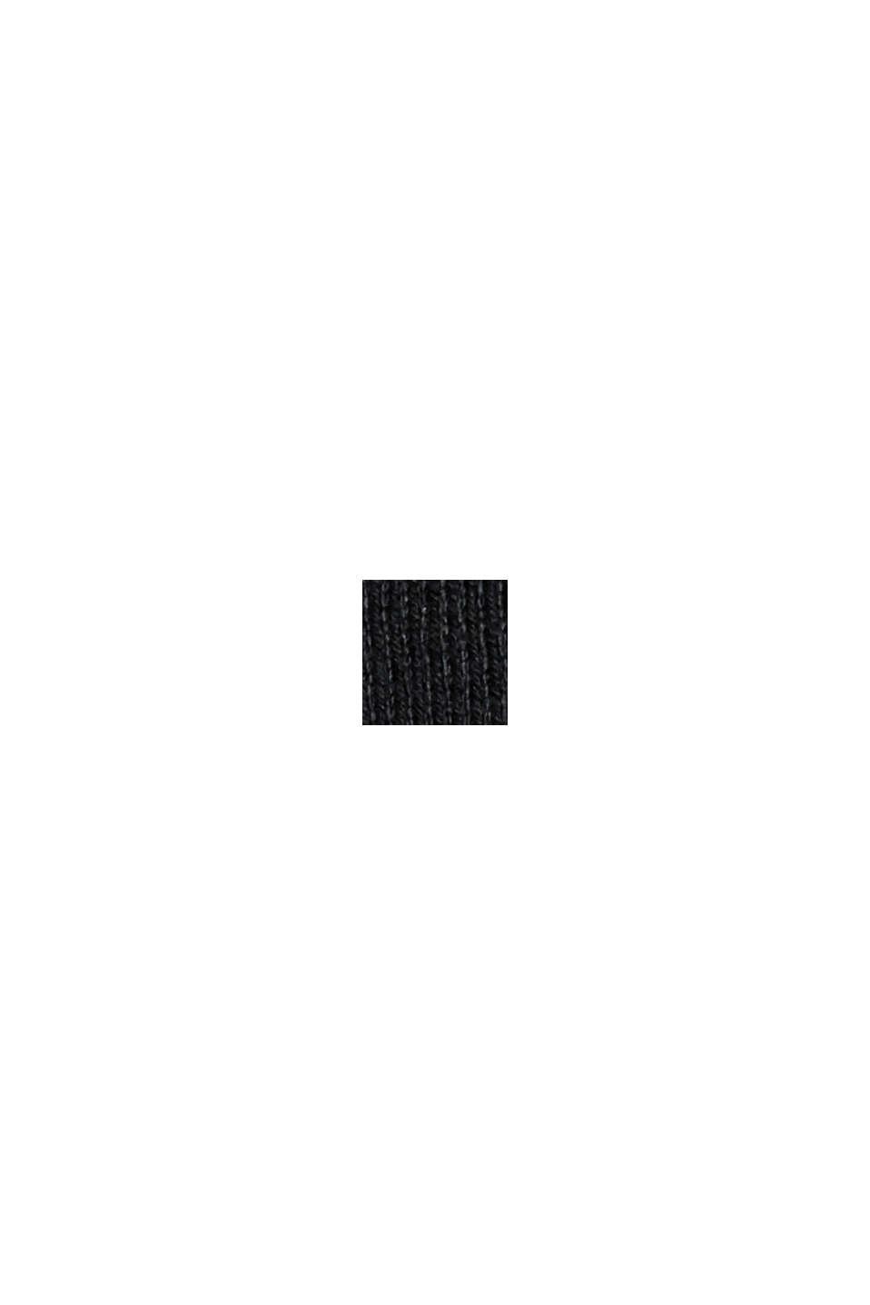 Pullover med økologisk bomuld og V-udskæring, BLACK, swatch