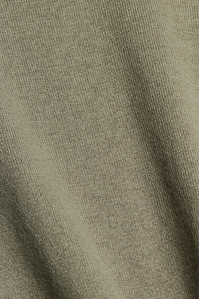 V-neck jumper containing organic cotton, LIGHT KHAKI, detail image number 4