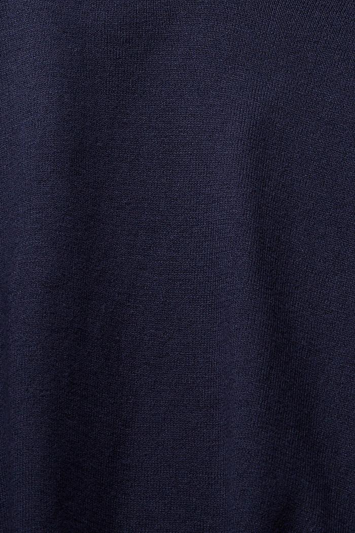 V-Neck-Pullover mit Organic Cotton, NAVY, detail image number 4
