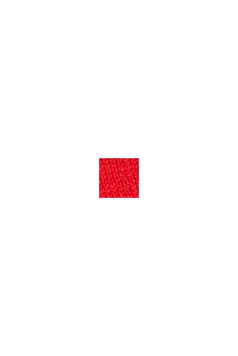 Pullover med økologisk bomuld og V-udskæring, RED, swatch