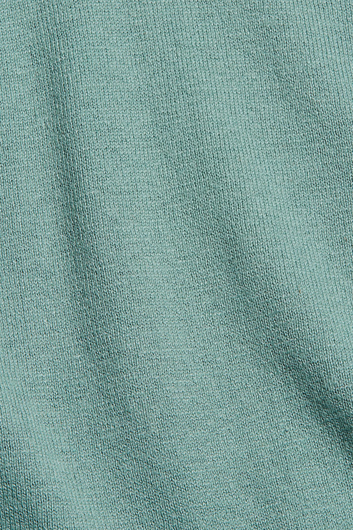V-Neck-Cardigan aus Bio-Baumwoll-Mix, DUSTY GREEN, detail image number 4