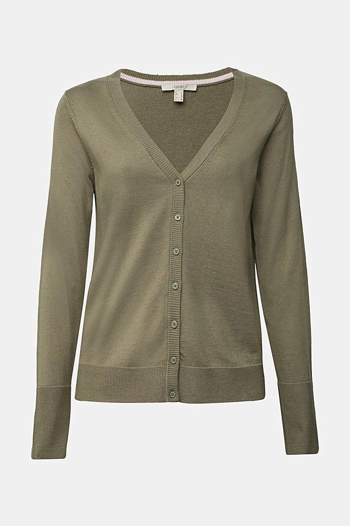 Basic V-neck cardigan with organic cotton