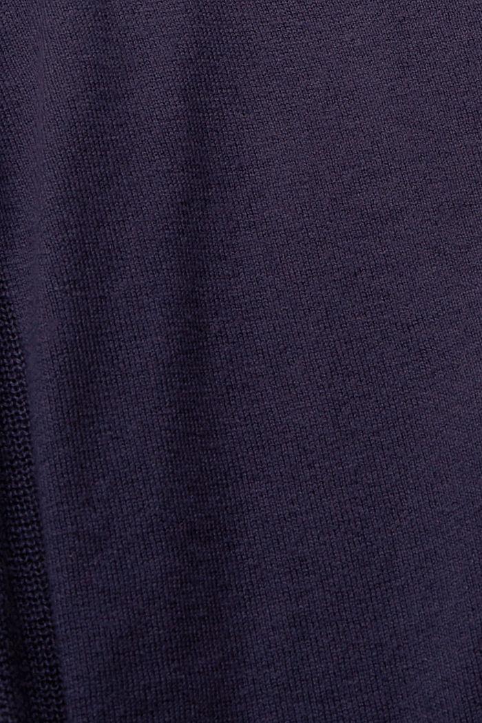 Cárdigan de cuello en pico realizado en mezcla de algodón, NAVY, detail image number 4