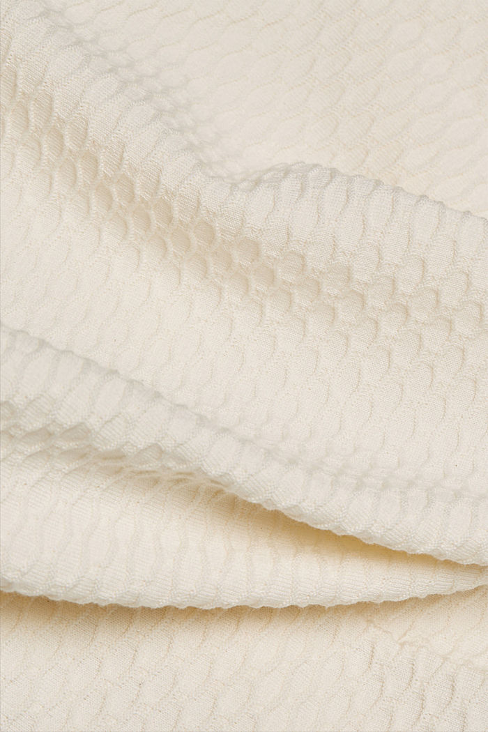 Textured jumper in blended cotton, OFF WHITE, detail image number 4