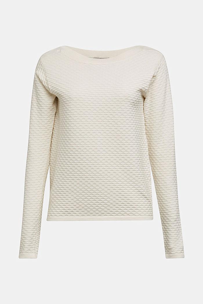 Struktur-Pullover aus Baumwoll-Mix