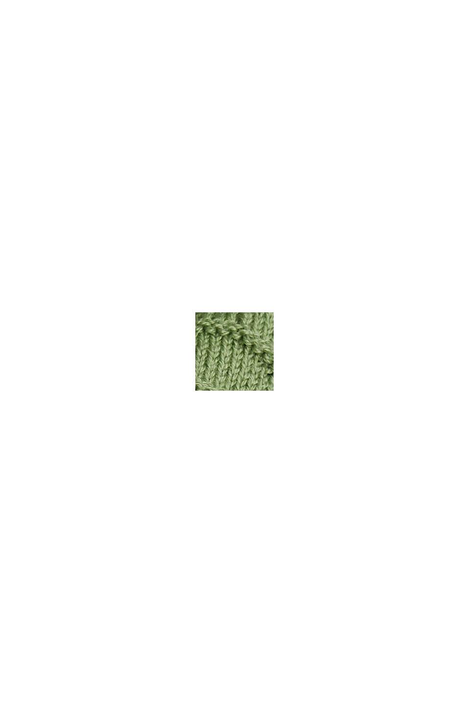 Struktur-Pullover aus Baumwoll-Mix, LEAF GREEN, swatch