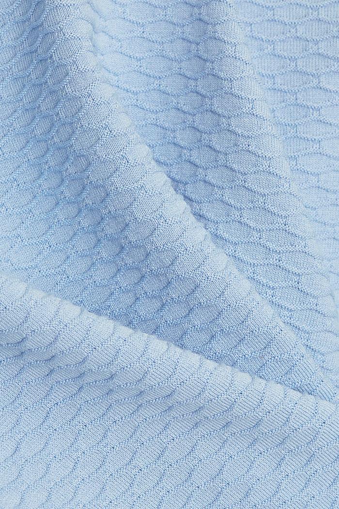 Struktur-Pullover aus Baumwoll-Mix, PASTEL BLUE, detail image number 4