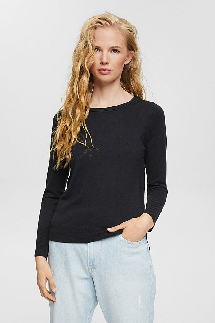 Basic Pullover mit Organic Cotton