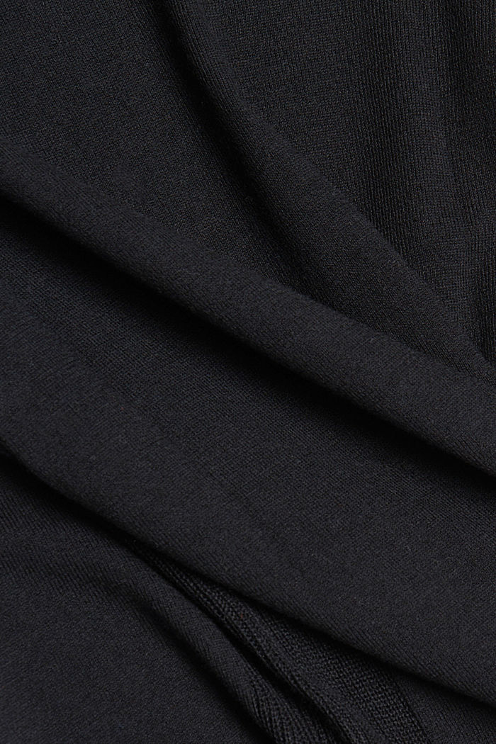 Basic jumper with organic cotton, BLACK, detail image number 4