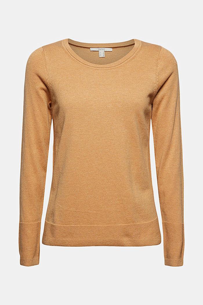 Pullover basic con cotone biologico, KHAKI BEIGE, detail image number 5