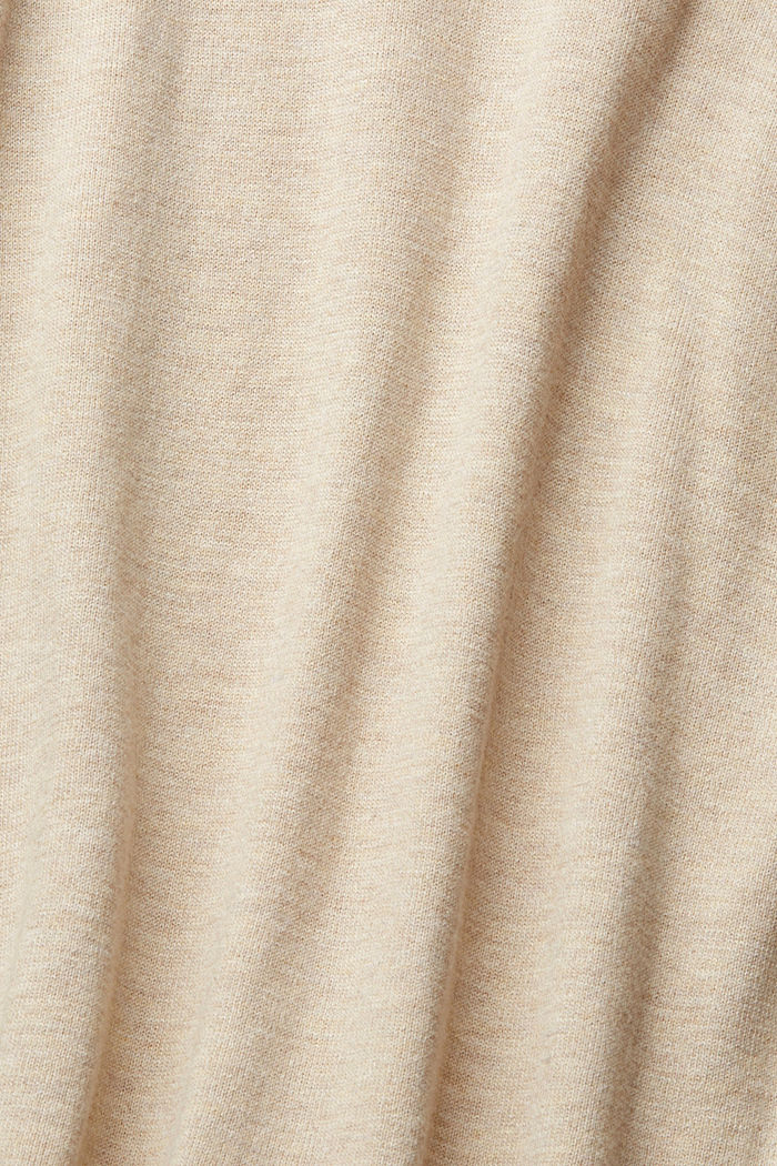Basic jumper with organic cotton, SAND, detail image number 4