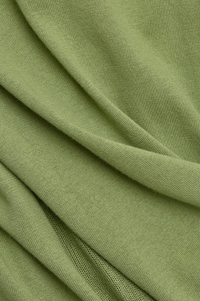 Basic jumper with organic cotton, LEAF GREEN, detail image number 4