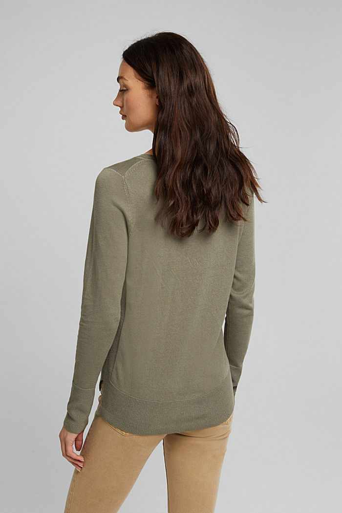 Basic jumper with organic cotton, LIGHT KHAKI, detail image number 3