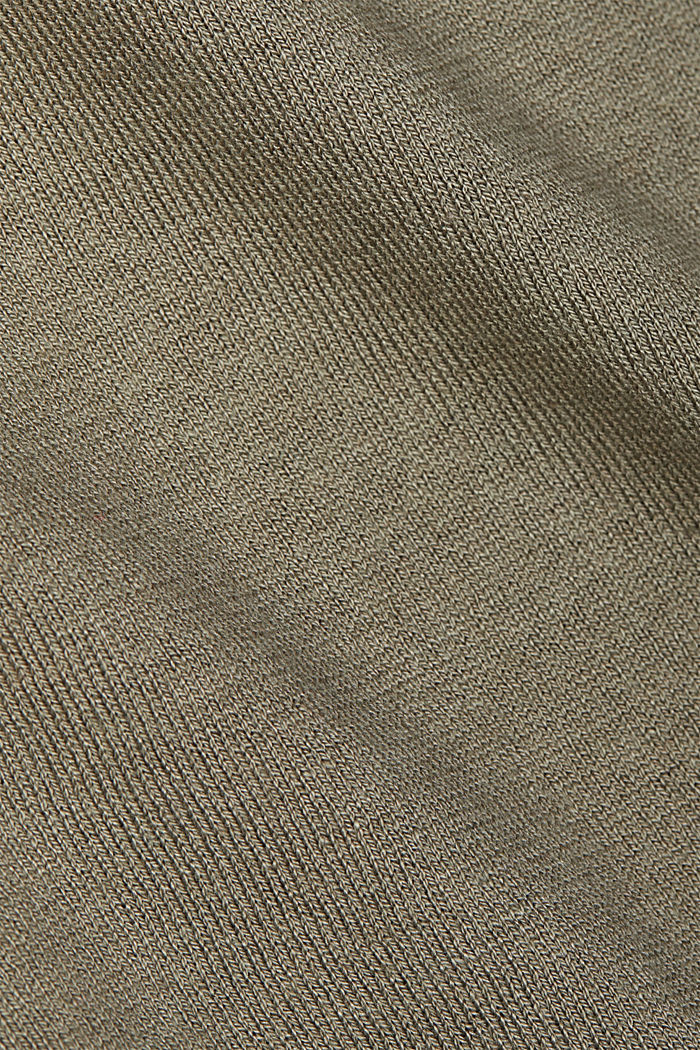 Basic jumper with organic cotton, LIGHT KHAKI, detail image number 4