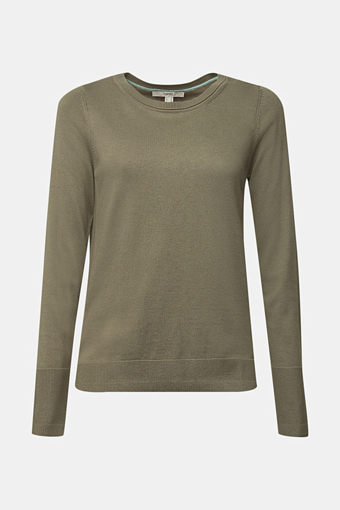 Basic jumper with organic cotton, LIGHT KHAKI, detail image number 6