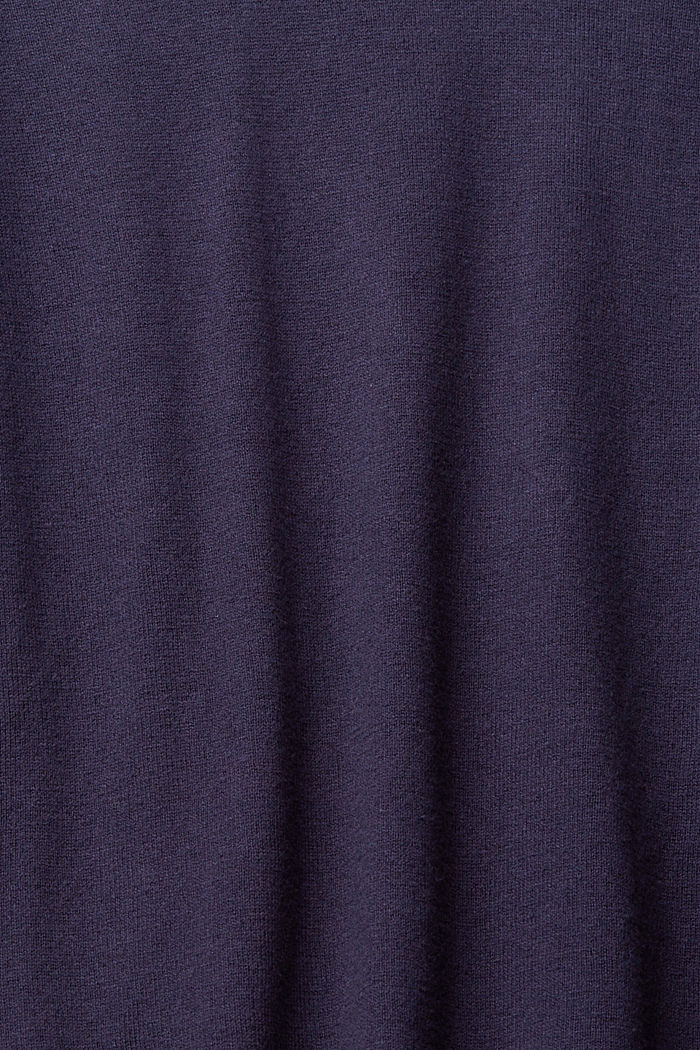 Basic jumper with organic cotton, NAVY, detail image number 4