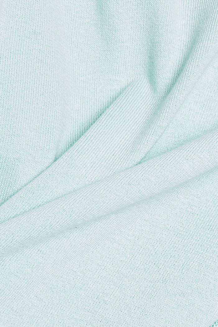 Basic jumper with organic cotton, LIGHT TURQUOISE, detail image number 4