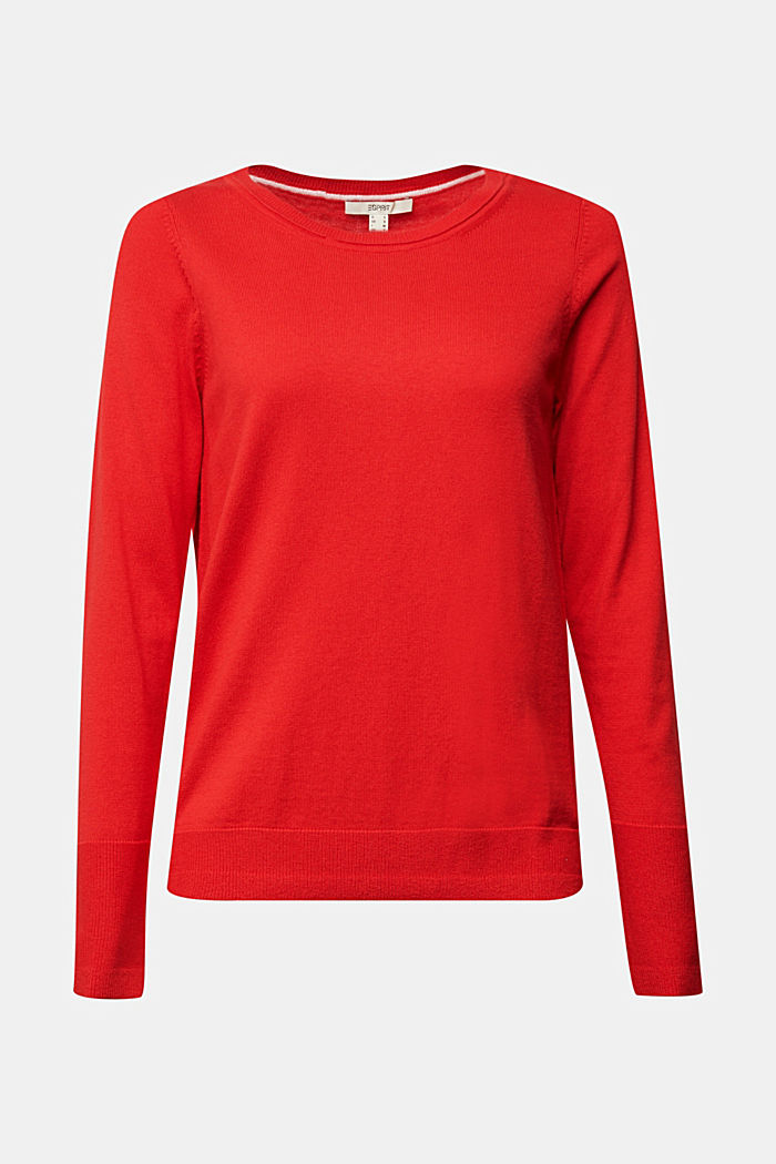 Basic jumper with organic cotton, RED, detail image number 5