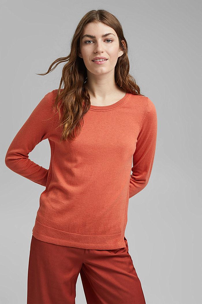 Basic Pullover mit Organic Cotton, BLUSH, detail image number 0