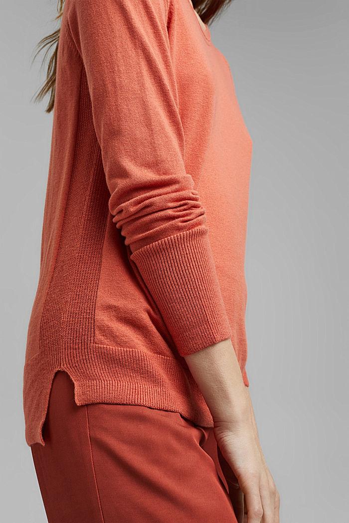 Basic Pullover mit Organic Cotton, BLUSH, detail image number 2